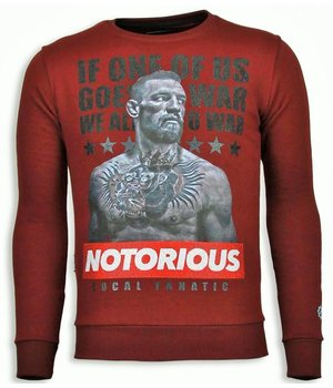 Local Fanatic Conor McGregor - Rhinestone Sweater - Burgundy