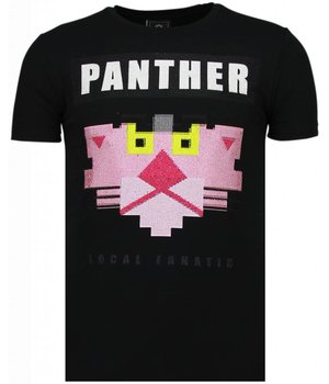 Local Fanatic Panther For A Cougar - Rhinestone T-shirt - Black