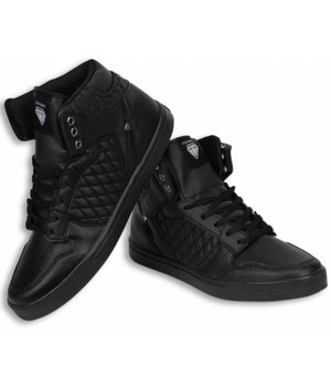 Cash Money Men Shoes -  Sneaker High - Jailor Full Black PU