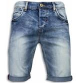 Black Ace Basic Denim Shorts Men - Blue