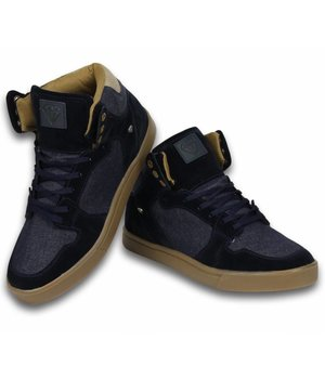 Cash Money Men Shoes -  Sneaker High - Denim Navy