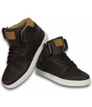 Cash Money Men Shoes -  Sneaker High - Vintage Choco