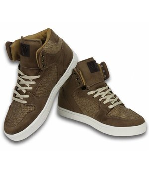 Cash Money Men Shoes -  Sneaker High - Riff Taupe