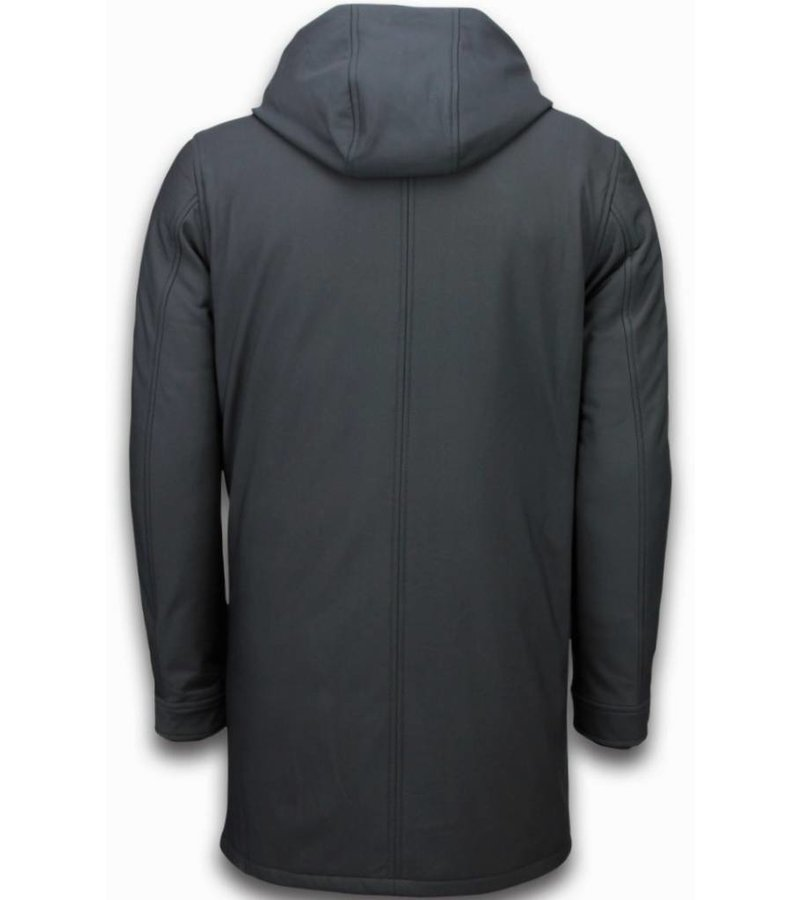 Warren Webber Winter Coats - Men Winter Jacket Long - Parka Basic - Black
