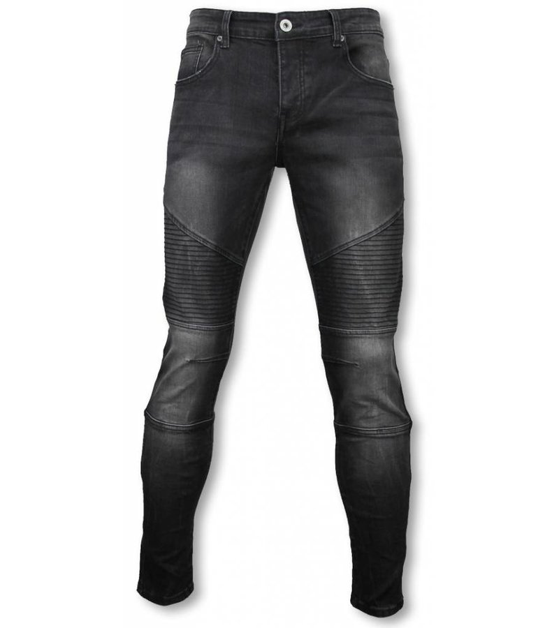 Avenue Denim Basic Jeans - Biker Tapered Fit - Black
