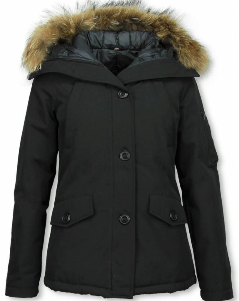 Thebrand Fur Collar Coat Women S Winter Coat Short Parka