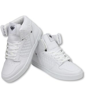 Cash Money Men Shoes -  Sneaker High - Jailor White Matt