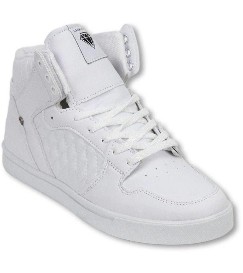 Cash Money Men Shoes -  Sneaker High - Jailor White Matt
