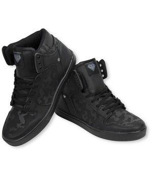 Cash Money Men Shoes - Sneaker High - Army Full Black