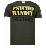 Local Fanatic Bad Dog - Rhinestone T-shirt - Khaki