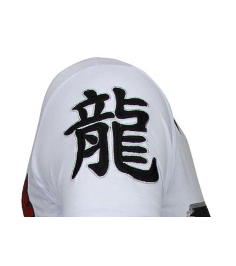 Local Fanatic Fighter Legend - Rhinestone T-shirt - White