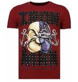 Local Fanatic Iron Man Popeye - Rhinestone T-shirt - Bordeaux