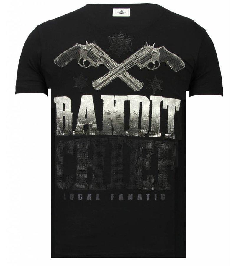 Local Fanatic Bandit Chief - Rhinestone T-shirt - Black