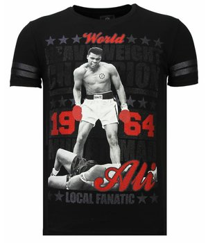 Local Fanatic Greatest Of All Time - Rhinestone T-shirt - Black