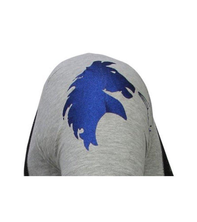 Local Fanatic Balboa - Rhinestone T-shirt - Grey
