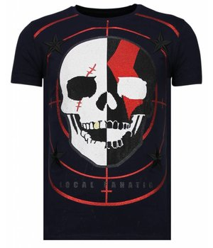 Local Fanatic God Of War - Rhinestone T-shirt - Navy