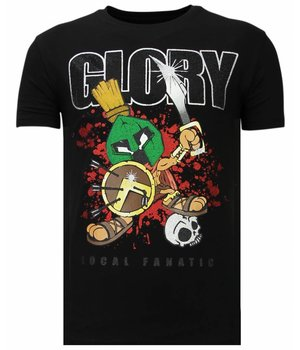 Local Fanatic Glory Martial - Rhinestone T-shirt - Black