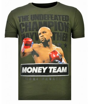 Local Fanatic Money Team Champ - Rhinestone T-shirt - Khaki