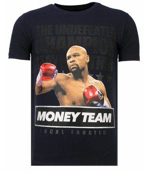 Local Fanatic Money Team Champ - Rhinestone T-shirt - Navy