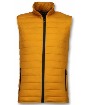 Y chromosome Men Bodywarmer - Casual Bodywarmer - Yellow
