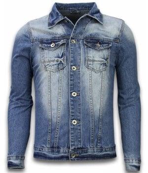 Bruno Leoni Denim Jacket - Stonewashed Look Denim Jacket - Blue