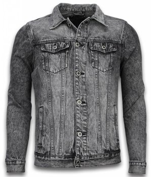 Bruno Leoni Denim Jacket - Stonewashed Look Denim Jacket - Grey