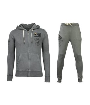 Bread & Buttons Tracksuit - Basic Army Tracksuit - Anthracite