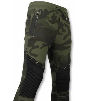 Enos Casual Sweatpants - Camouflage Biker - Green