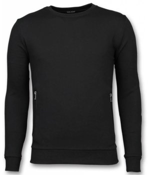 Enos Tracksuit - Basic Tracksuit with Buttons - Black