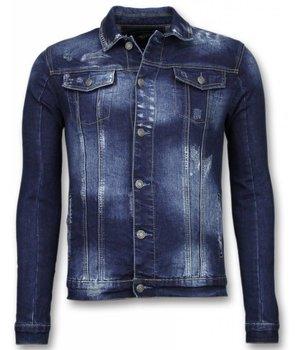True Rise Denim Jacket - StoneWashed Denim Jacket - Dark Blue