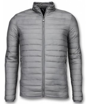 Enos Summer Jacket - Short Summer Jacket for Men - Down Jack - Grey