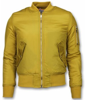 Beluomo BomberJacket for Men - Basic Bomber Jacket - Yellow