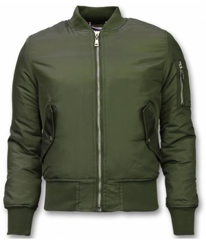 Beluomo BomberJacket for Men - Basic Bomber Jacket - Khaki