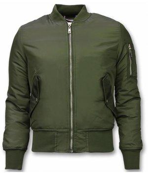 Beluomo BomberJacket for Men - Basic Bomber Jacket - Khaki