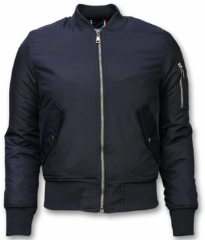 Beluomo BomberJacket for Men - Basic Bomber Jacket - Blue