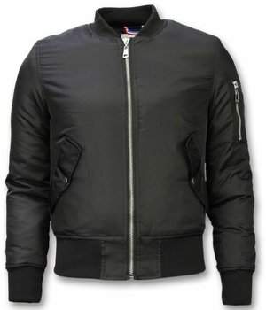 Beluomo BomberJacket for Men - Basic Bomber Jacket - Black