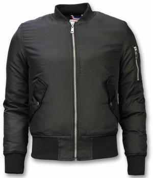 Beluomo BomberJacket for Men - Basic Bomber Jacket - Black
