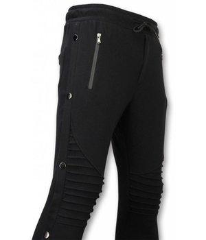 Enos Casual Sweatpants - Buttons Sweatpants - Black
