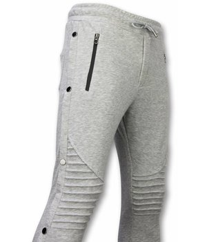 Enos Casual Sweatpants - Buttons Sweatpants - Grey