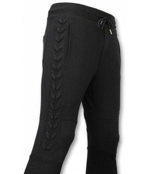 Enos Casual Sweatpants - Braided Sweatpants - Black