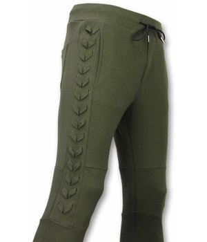Enos Casual Sweatpants - Braided Sweatpants - Green