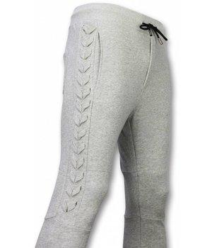 Enos Casual Sweatpants - Braided Sweatpants - Grey