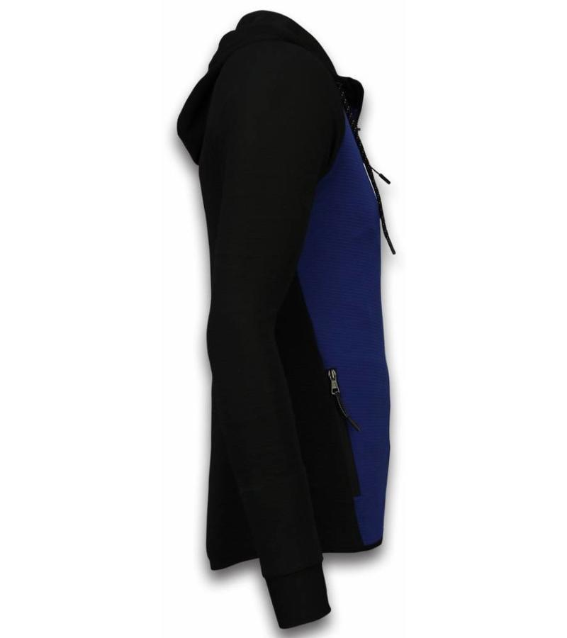 Daniele Volpe  Basic Tracksuit Set Men - Black \ Blue