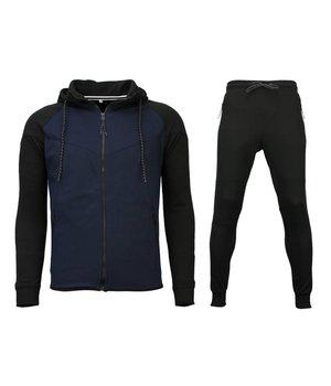 Style Italy Plain Tracksuit Set For Men - Black
