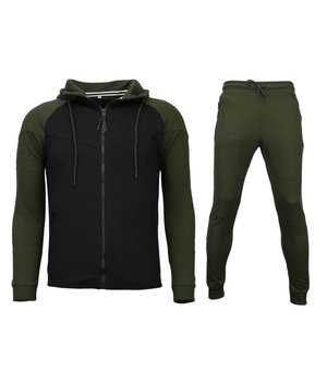 Style Italy Exclusive Tracksuit Windrunner Basic - Green / Black
