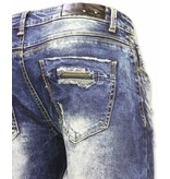 Justing Slim Fit Ripped Jeans - Blue
