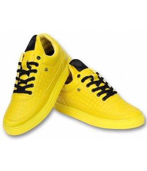 Cash Money Men Shoes Low Sneaker - Low Beehive - CMS11 - Yellow