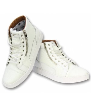 Sixth June Men Side Zip Sneakers High - A14 - White