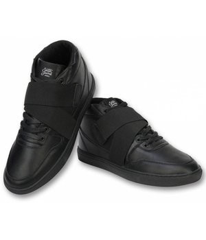 Sixth June Men High Sneakers With Straps - Black