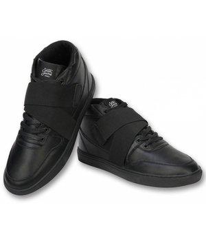 Sixth June Men Shoes High Sneaker - Nation Strap - 157 - Black